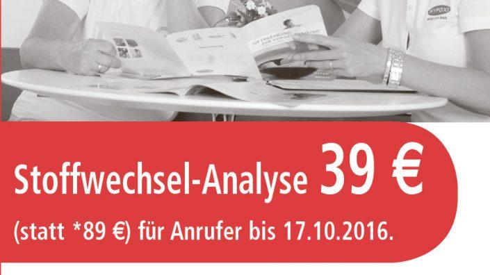 Hypoxi Köpenick Angebot Stoffwechselanalyse 2016 Oktober.